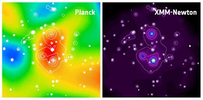 Leitud superparv nähtuna Plancki ja XMM-Newtoni poolt