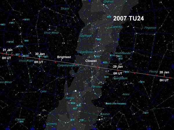 Asteroid 2007 TU24.