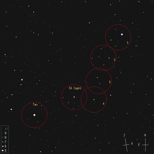 61 Cygni otsimiskaart