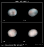 Hubble fotod asteroidist Vesta.