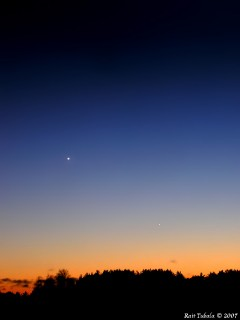 Veenus ja Merkuur 3. veebruaril 2007