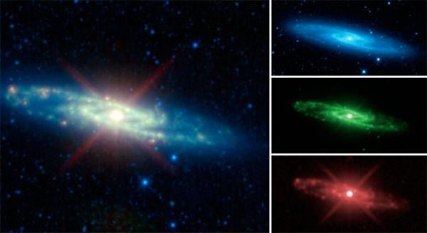 Skulptori galaktika infrapunases valguses.