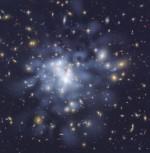 Detailne tumeaine kaart galaktikaparvest Abel 1689