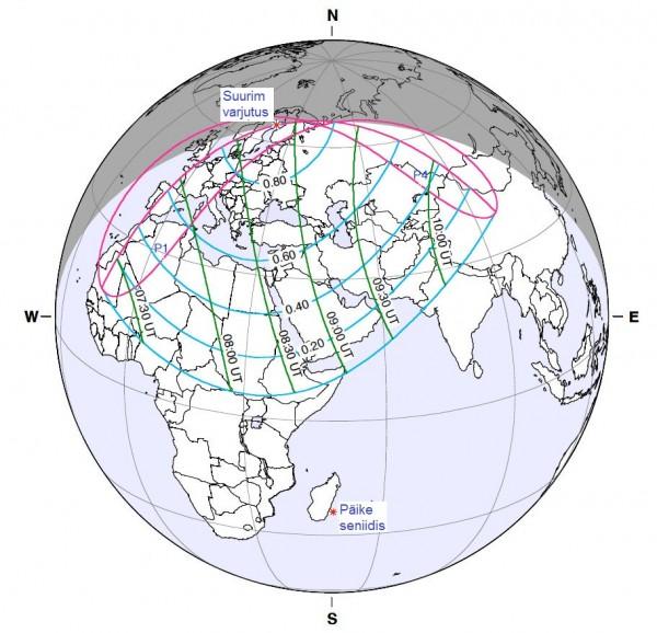 4. jaanuari päikesevarjutuse nähtavuspiirkond