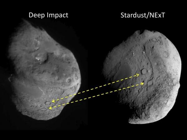 Kahe automaatjaama pildid komeedist Tempel 1