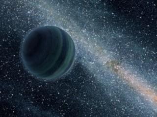 Kunstniku ettekujutus planeedist, mis ei tiirle ühegi tähe ümber. Pilt: NASA/JPL-Caltech.