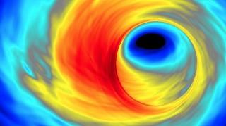 Arvuti simulatsioon ülikuumast plasma keeristest ümber musta augu meie galaktika keskel.