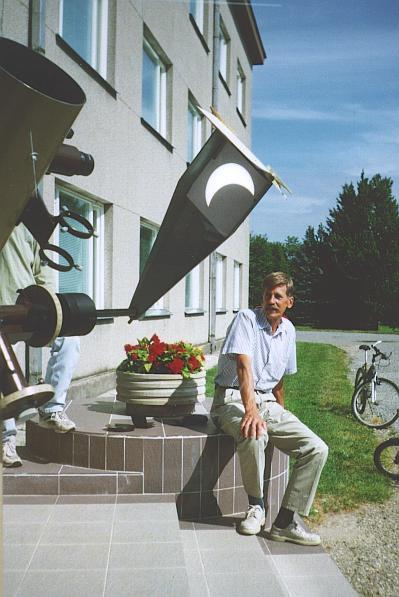 Päikesevarjutuse vaatlus projektsioonimeetodil 1999. a. Tõraveres.