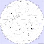 Asteroid 2012 AD14 möödalennu taevakaart Tartu