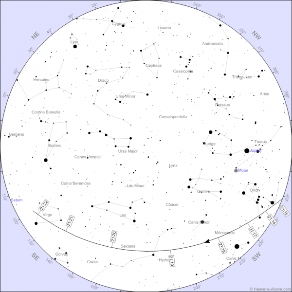 ISS-i ülelend 15.aprillil Tartus