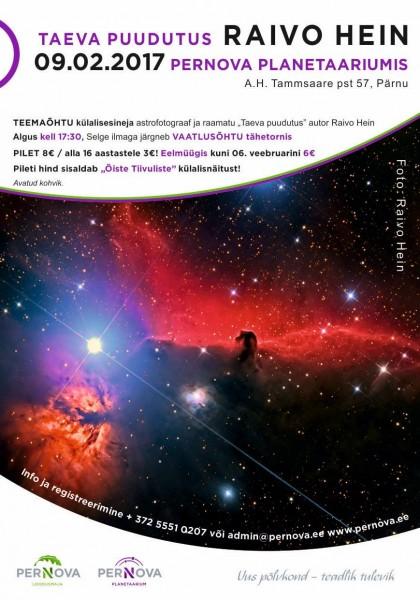 Teemaõhtu Pernova Planetaariumis 09.02.2017
