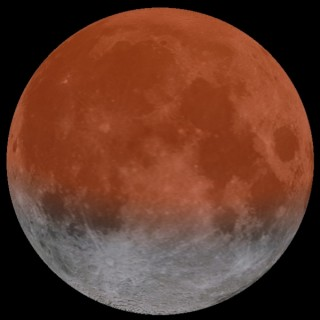 Tipphetkel on Kuu 65% ulatuses varjutatud ning varjutamata osa paistab kausikujuline.