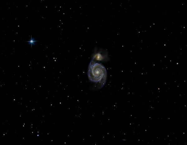 M51 ehk Veekeerise galaktika pildistatuna märtsis Türilt. Foto: Taavi Uibo