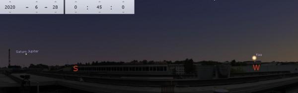 Vaatlusõhtu lõpupoole AHHAA katuselt avanev vaade.