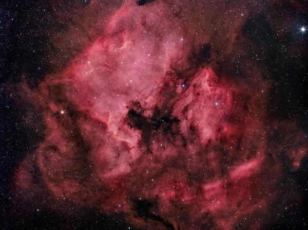 Hiiglaslik Põhja-Ameerika udukogu (NGC 7000) Luige tähtkujus. Foto: Paolo Moroni