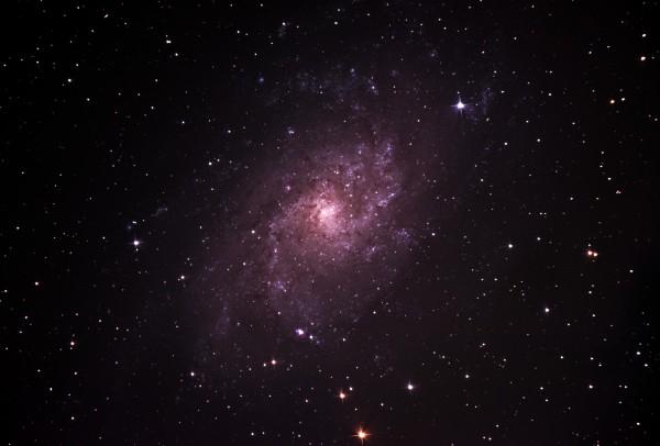 M33 ehk Kolmnurga galaktika pildistatud käesoleva aasta augustis Tõrvast. Foto: Taavi Niittee/Tõrva Astronoomiaklubi - https://www.astromaania.ee/