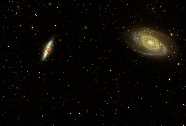 M81 ja M82 ehk Bode ja Sigari galaktikad. Foto: Urmas Leming, pildistatud käesoleva aasta märtsis Sakus.