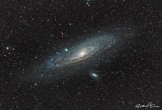 Andromeeda galaktika ehk M31 pildistatud Eestist eelmise aasta augustis. Foto: Dmitri Gostev