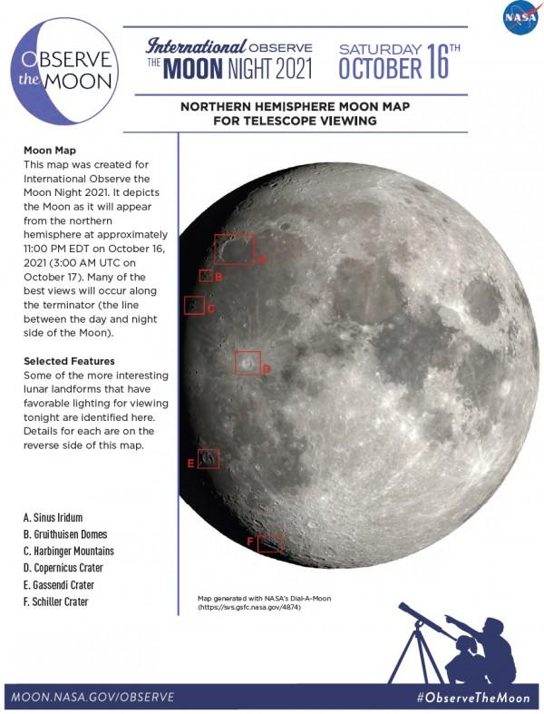 Ülevaade Kuust, nagu see oktoobri vaatluste ajal paistab.