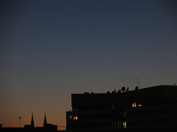 Jupiter ja Merkuur ehataevas