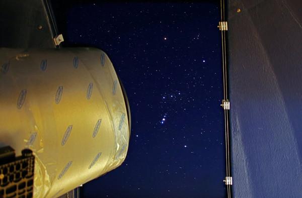 Orion ja teleskoop