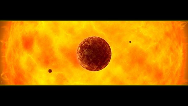 Planeedid kauge tähe ümber (arvutijoonistus)