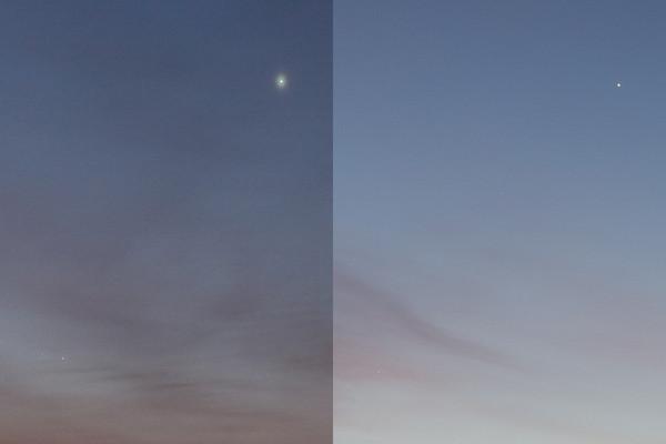 Veenus, Merkuur ja Saturn