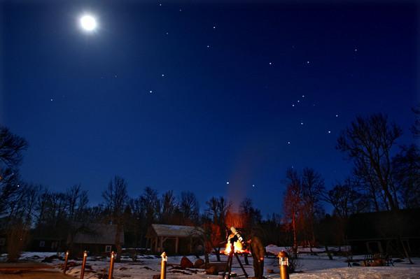 Orion, teleskoop ja Kuu